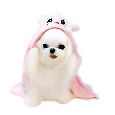 Kat / Hund Kostume / Hodetørklær og hatter Hundeklær Tegneserie Grønn / Blå / Rosa Polar Fleece Kostume For kjæledyr Sommer Herre / Dame Ferie / Fritid / hverdag / Mote