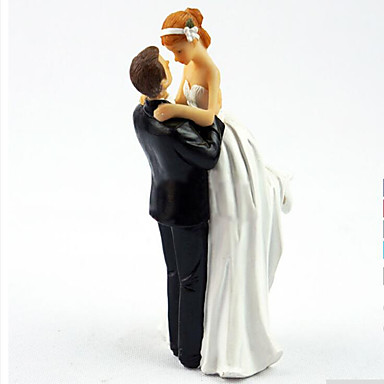 cheap Wedding Reception-Cake Topper Garden Theme Classic Resin Special Occasion with 1 Gift Box