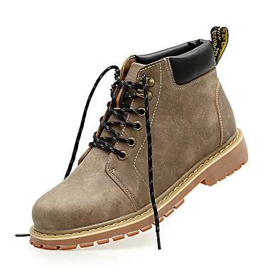 メンズ 靴 レザー 春 夏 秋 冬 コンフォートシューズ ファッションブーツ ブーティー ブーツ 編み上げ 用途 カジュアル ブラック Brown