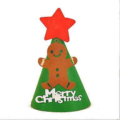 Vihreä Valkoinen Harmaa Punainen Vihreä Paperi Cosplay-tarvikkeet Joulu