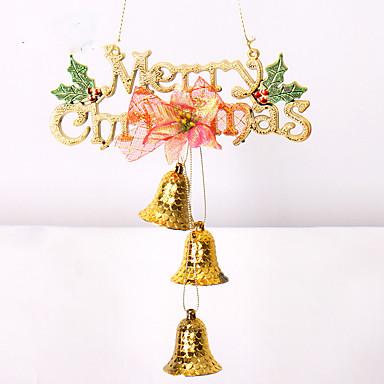 クリスマスツリーの飾りクリスマスのギフトをofingの1pcs 2colourクリスマスの装飾のギフトの役割は、鐘のactthe役割をハング
