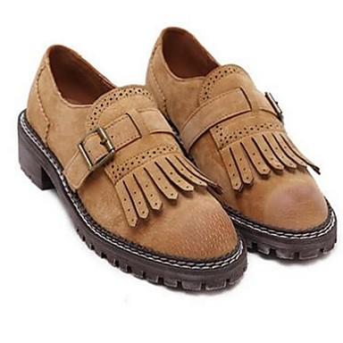 Dame-PigskinKomfort-一脚蹬鞋、懒人鞋-Fritid-Svart / Gul