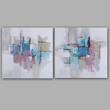 Hang malte oljemaleri Håndmalte - Abstrakt Klassisk Moderne Lerret