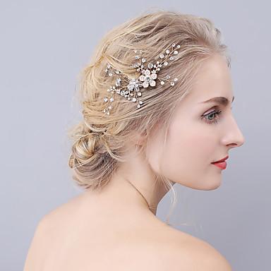 kristalli rhinestone alloy hiukset kammat päähine klassinen naisellinen tyyli