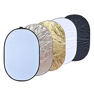90 x 120cm 5 i en bærbar sammenleggbar lys fotografering reflektor for studio multi bilde plate