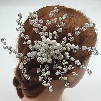 真珠 アクリル コーム コサージュ かぶと