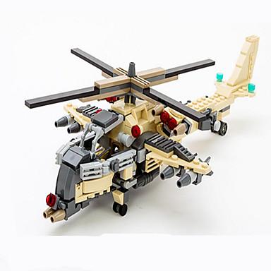 Actionfigurer og kosedyr / Byggeklosser for Gift Byggeklosser Modell- og byggeleke Tank / Fighter / Helikopter / Trailer ABS5 til 7 år /