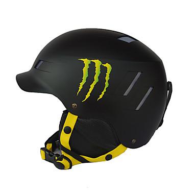 ヘルメット 男女兼用 スポーツ スポーツヘルメット レッド / ブラック スノーヘルメット EPS / ABS樹脂 スノースポーツ