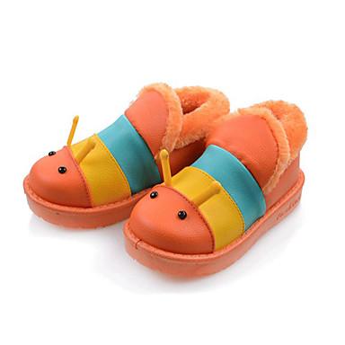女の子 靴 PUレザー コンフォートシューズ ブーツ 用途 カジュアル オレンジ コーヒー レッド