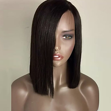 fashion natural black color bob straight synthetic lace front wig heat resistant synthetic hair wigs
