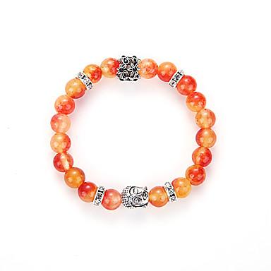 Herre Dame yoga Bracelet Strand Armbånd - Oransje Armbånd Til Fest Bursdag Gratulerer