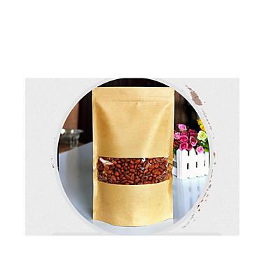 folha de alumínio kraft sacos de papel, auto-denominado, auto-suficiência, embalagens de alimentos, um pacote de dez, 9 * 14 + 3 centímetros