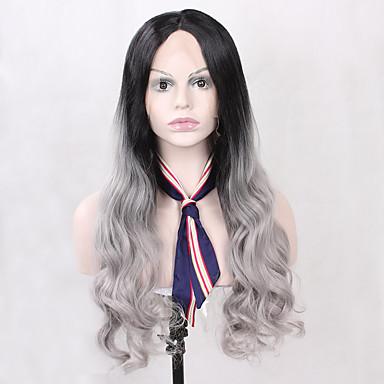 Syntetiske parykker Krop Bølge Naturlig hårlinje Svart Dame Blonde Forside Naturlig parykk Syntetisk hår