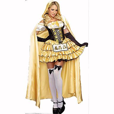 Prinsessa Satuteema Naiset Halloween Joulu Karnevaali Uusi vuosi Oktoberfest Lasten päivä Festivaali/loma Halloween-asut Painettu