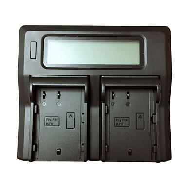 Ismartdigi BLF19 EU LCD Dual Charger with Car Charge Cable for Panasonic DMW-BLF19 Lumix DMC-GH3 GH4GK AG-GH4 Camera Batterys