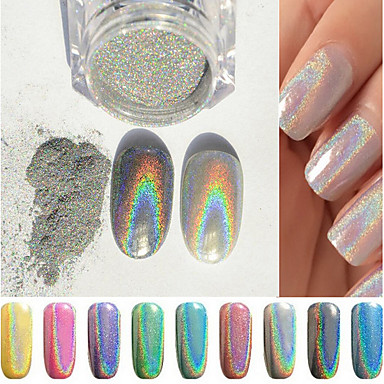 Holographic nail powder dm