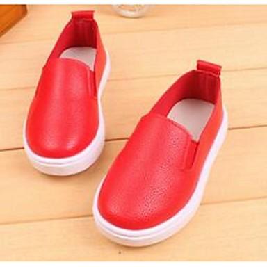 Tyttöjen kengät Tekonahka Comfort Mokkasiinit varten Kausaliteetti Valkoinen Musta Punainen