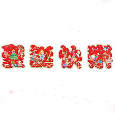Jul Wall Stickers Fly vægklistermærker / 3D mur klistermærker Dekorative Mur Klistermærker,Papír Materiale Hjem Dekor Veggoverføringsbilde
