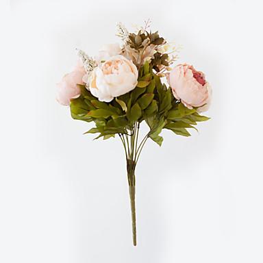 زهور اصطناعية 1 فرع الطراز الأوروبي الفاوانيا أزهار الطاولة
