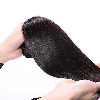 Menneskehår Vevet Peruviansk hår Rett 1 Deler hår vever