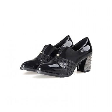 Mulheres Sapatos Couro Envernizado / Microfibra Primavera / Verão Conforto / Inovador Saltos Caminhada Sem Salto / Plataforma Dedo
