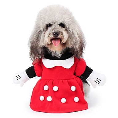 Gato Cachorro Fantasias Casacos Roupa Camisola com Capuz Macacão Roupas para Cães Personagem Vermelho Algodão Terylene Ocasiões Especiais