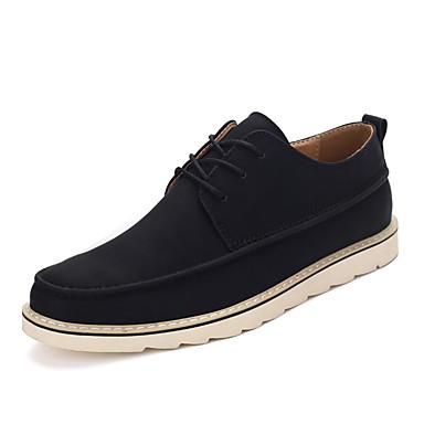 Miehet kengät PU Kevät Syksy Talvi Comfort Muotisaappaat Bootsit Käyttötarkoitus Urheilullinen Kausaliteetti Musta Harmaa Khaki