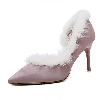 レディース 靴 フリース 秋 ヒール スティレットヒール ポインテッドトゥ 用途 ドレスシューズ ブラック ピンク