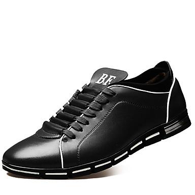 Miehet kengät Tekonahka Kevät Syksy Talvi Comfort Oxford-kengät Käyttötarkoitus Kausaliteetti Juhlat Musta Ruskea Punainen