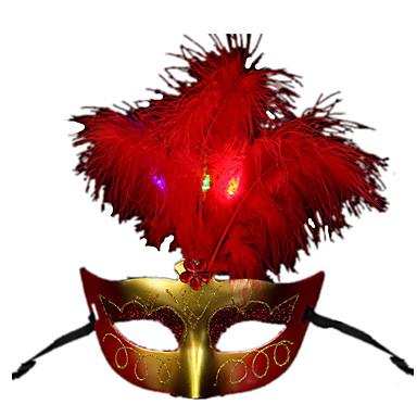 ハロウィン用マスク 仮面舞踏会用マスク おもちゃ 方形 ホラーテーマ LED照明 男の子 女の子 小品