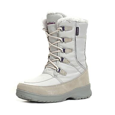 女性用-スノースポーツ-ショートブーツ(ホワイト / ライトグレー / ブラウン)