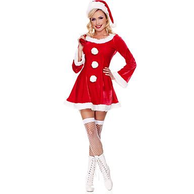 Cosplay Kostumer Nisse drakter Festival/høytid Halloween-kostymer Kjole Mer Tilbehør Jul Kvinnelig Terylene