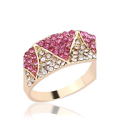 女性用 ラインストーン ラインストーン 銀メッキ ゴールドメッキ 合金 指輪 - シンプルなスタイル ゴールド リング 用途 結婚式 パーティー 日常 カジュアル