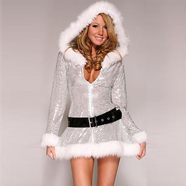 サンタスーツ コスプレ衣装 女性用 クリスマス イベント/ホリデー ハロウィーンコスチューム パッチワーク