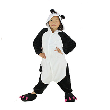 f93d1ab3a5 Kid's Kigurumi Pajamas Panda Animal Onesie Pajamas Polar Fleece Black  Cosplay For Boys and Girls Animal