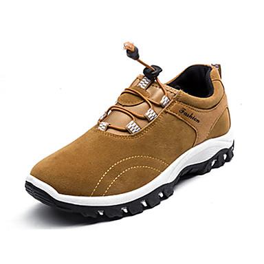 Homens sapatos Couro Ecológico Primavera / Outono Conforto / botas de desleixo Tênis Aventura Cinzento / Amarelo / Azul