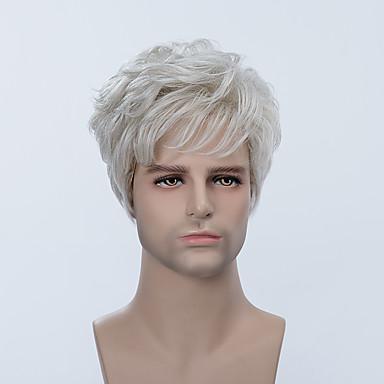 Human Hair Capless Parykker Ekte hår Rett Klassisk Høy kvalitet Parykk Daglig