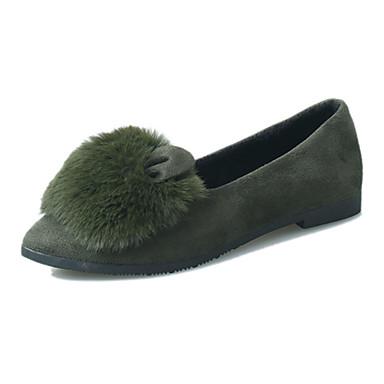 Dame-PU-Flat hæl-Komfort-一脚蹬鞋、懒人鞋-Fritid-Svart Grå Grønn