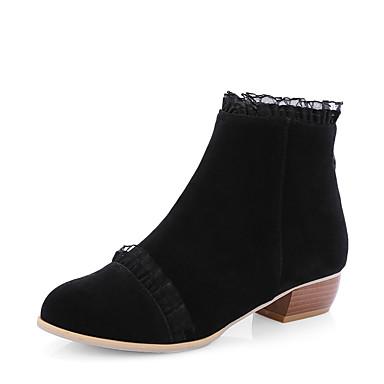 Dame-Kunstlær-Lav hælStøvler-Formell Fritid-Svart Grønn