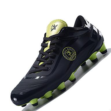 Miehet kengät Synteettinen Talvi Kevät Kesä Syksy Comfort Urheilukengät Jalkapallo Solmittavat varten Urheilullinen Oranssi Sininen