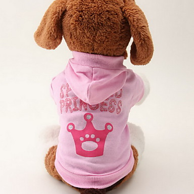 Kissa Koira Hupparit Koiran vaatteet Tiarat ja kruunut Pinkki Puuvilla Asu Lemmikit Naisten Muoti