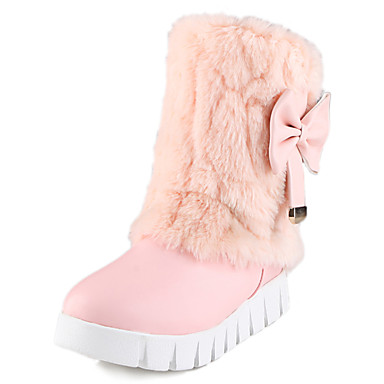 Dame-Kunstlær-Platå-Platå-Støvler-Formell Fritid-Svart Beige Rosa