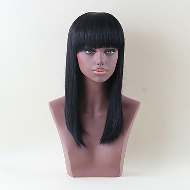 女性のためのエレガントなファッションストレート人間の髪の毛のかつら