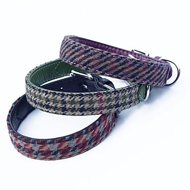 Kat / Hund Krave Justerbare / Uttrekkbar / Pustende / Myk Stribe PU Leather Lilla / Rød / Grønn