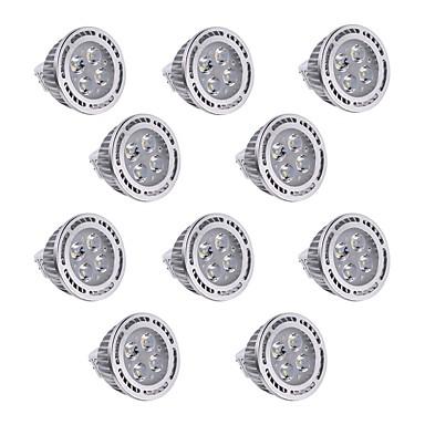 abordables Ampoules électriques-YWXLIGHT® Spot LED 400 lm GU5.3(MR16) MR16 4 Perles LED SMD 3030 Intensité Réglable Décorative Blanc Chaud Blanc Froid 12 V / 10 pièces / RoHs