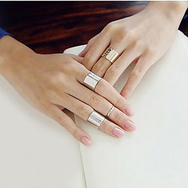 Gyűrűk Női Nem kő Ötvözet Ötvözet Egy méret Amint a képen