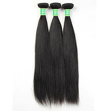 Hiukset kutoo Suora Hiuspidennykset Brasilialainen Luonnollinen musta Hiukset kutoo 0.3