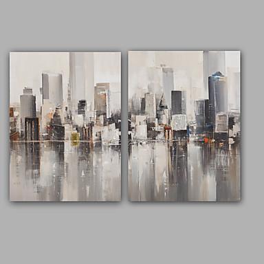 Hang malte oljemaleri Håndmalte - Abstrakt Klassisk / Moderne Lerret