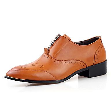 Oxford-kengät-Tasapohja-Miesten-PU-Musta Keltainen Punainen-Rento-Comfort