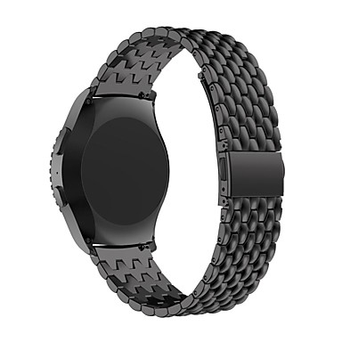 Pulseiras de Relógio para Gear S2 Classic Samsung Galaxy Pulseira Esportiva Aço Inoxidável Tira de Pulso